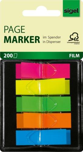 sigel-hn489-haftmarker-im-spender-200-mini-streifen-im-format-12-x-45-mm-5-neon-farben