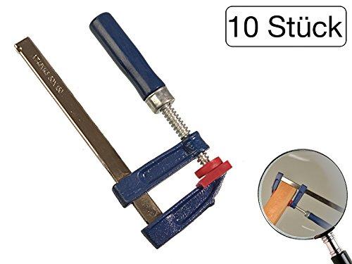 10 Stück Schraubzwinge 150 x 50 mm mit Holzgriff