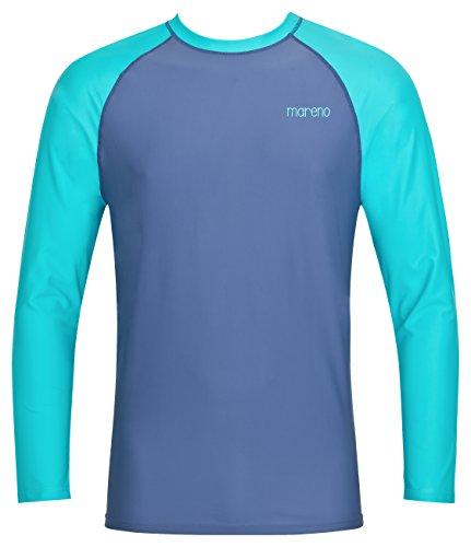 Herren UV-Schutz T-Shirt UV Protect 80, Oeko-Tex 100 in Marine/türkis in Größe XL -
