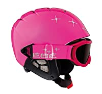 Cebe Twinny Kids Ski Helmet (Pink Star)Description:The Twinny 2 in 1 Junior Helmet from Cebe is an in-mould helmet with integrated Category 3 goggles.It has a thermo-regulated lining made from a durable fabric which is highly breathable, deta...