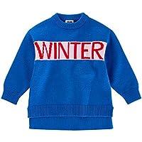Yukeyy 1-6 Jahre Altes Mädchen Herbst und Winter Strickpullover Langärmelig Pullover