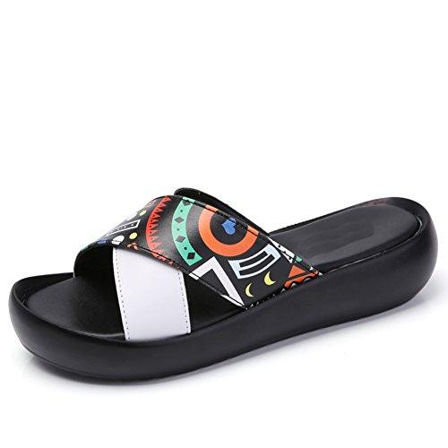 Indossando Scarpe Con La Suola Spessa Estate/Sandali Donne Incinte/Degli Studenti Moda Sandali E Pantofole A