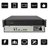 NVR di rete H.265X 64 way 4K Registratore Hard-Disk Video Sorveglianza Videoregistratore Rilevazione intelligente AI Servizio cloud P2P Supporto 9 dischi rigidi * 8 TB (non inclusi) Potenza: 12 (V)