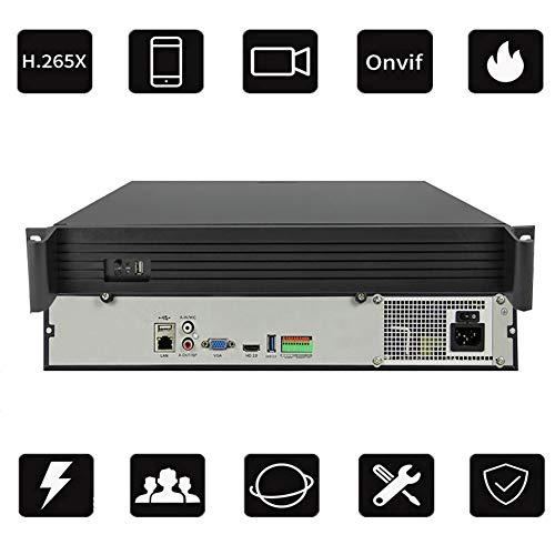Preisvergleich Produktbild H.265X-Netzwerk-NVR 64-Wege-4K Festplatten Rekorder AI intelligente Erkennung P2P-Cloud-Dienst Fernüberwachung HD-Wiedergabe Unterstützung 9 Festplatten * 8 TB (nicht enthalten) Leistung: 12 (V)
