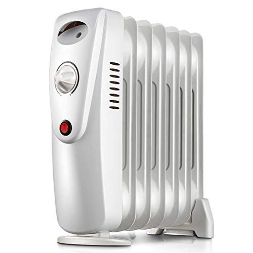 LANGYINH Calentador De Radiador Lleno De Aceite,Portátil 800W Calentador,con Protección contra El...