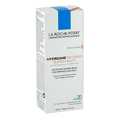 Roche Posay Hydreane Bb Crema de color de medio a oscuro, 40 ml