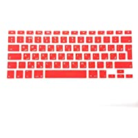 Arabic English Keyboard Cover For Macbook 13 Inch 15 Inchpro Air And Retina (unibody) Uk/Europe Layout [red]