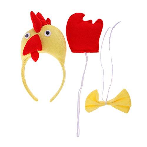 Gazechimp Tier Kopfband Schleifen Schwanz Set Tier Bauernhof Kinder Kostüm Maskenbal - Huhn (Huhn Kostüme Kinder)