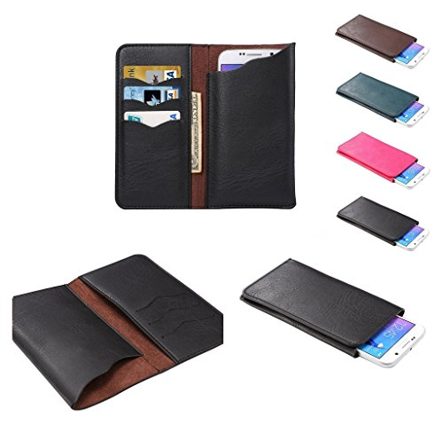 Black Magic Wallet (DFV mobile - Vertical Cover Premium PU Leather Case with Wallet & Card Slots for => CUBOT Magic > Black)