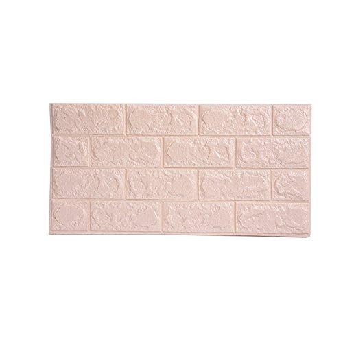 3D weiß Stein Vliestapete, selbstklebend 3D Schaum Wand Paneele für Hintergrund Wohnzimmer Dekoration beige