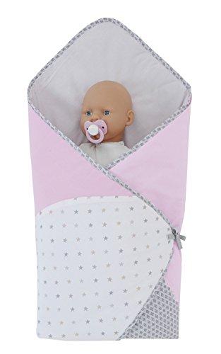 P 'tit Basile–Schlafsack Babydecke Pucksack–Einschlagdecke Multi usage- 76x 76cm–0–3Monate–Baumwolle aus biologischem Anbau–Collection Mädchen Claudine