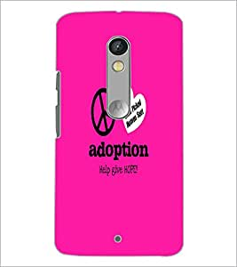 PrintDhaba Quote D-5586 Back Case Cover for MOTOROLA MOTO X PLAY (Multi-Coloured)