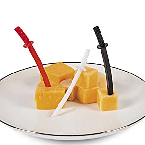 Ninja Schwert Picks Picker Pieckser 72 Stück Tischdekoration Mottoparty Palandi®
