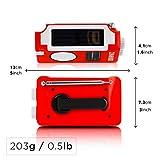 Duronic Hybrid Radio AM / FM – Solarenergie und USB-Ladegerät – Ideal für Camping, Wandern, zu Hause oder im Garten / Aufladbare Kurbel - 3