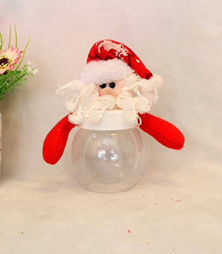 Food Jar - Christmas Clear Plastic Santa Elk Cookie Candy Storage Bottle Bags Sweet Party Gifts Xmas Children - Bottles Storage Jars Storage Bottles Jars Plastic Candy Glass Cookie Food Bo - Glass Jar-cookies