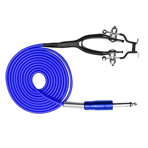 n Abdeckung Tattoo Maschine Netzteil Tattoo Clip Kabel mit Klinkenstecker - Blau ()