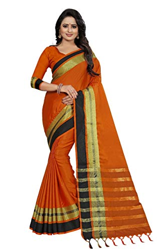 UddanCreation Bollywood Pakistani Designer Cotton Silk Saree Indian Kanchipuram Traditional Sari Lengha Kanchipuram Saris