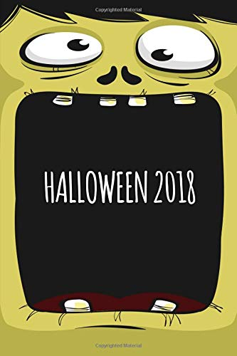 Halloween 2018: Monster Cover Blank, Wide Ruled Journal for Kids. Great Halloween Party favor and Trick or Treat giveaway. (Composition Book, 100 Pages, 6x9 inches)