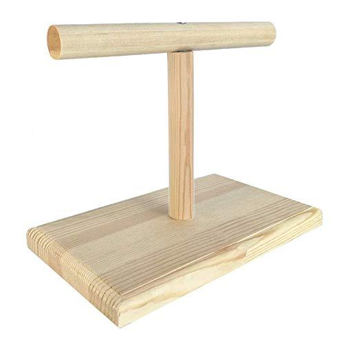 y2y3zfal Tragbare Vogel Spielzeug Holz Papagei Ausbildung Spin Barsch Stehen Spielplatz Plattform Spielzeug