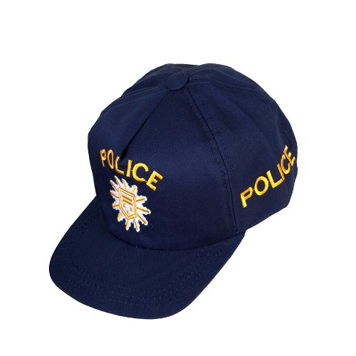 Kid's Shirt 5223 Basecap Police für Kinder, Klettverschluss, 47-61 cm, blau/gelb (Shirt Kostüm Police)