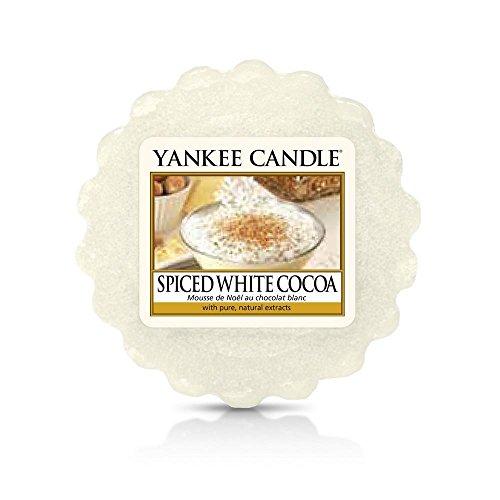 YANKEE CANDLE 1513578E Mousse à Chocolat épicée tartelette Cire, Blanc, 6 x 5,7 x 2 cm