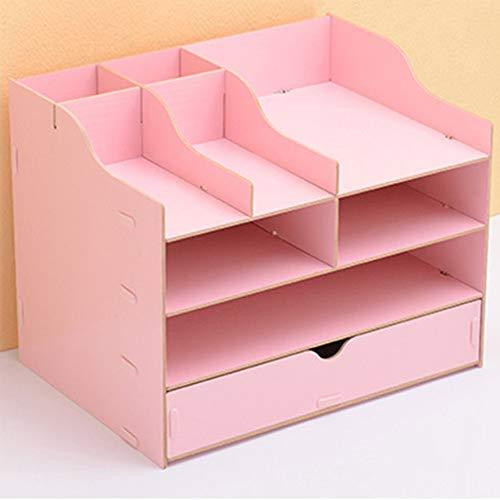 Büro Schreibtischorganizer Aufbewahrungsregal Tisch Organizer aus Holz Haushalt Fernbedienung Box Aufbewahrungsbox Schreibtisch Kinder...