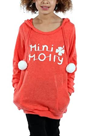 Pull Mini Molly Pompons Couleurs Blanc 4/6 A 12/14 4/6