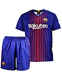 Conjunto - Kit 1ª Equipación Replica Oficial FC BARCELONA 2017-2018 Dorsal  MESSI - Tallaje 6338b190eb83a