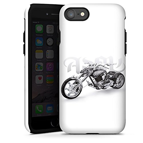 Apple iPhone X Silikon Hülle Case Schutzhülle Motorrad tribal harley Tough Case glänzend