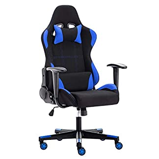 IntimaTe WM Heart Silla Gamer, Silla Gaming Silla Escritorio Giratoria, Altura Ajustable Respaldo Inclinable hasta 135 ° con Apoyabrazos Fijos