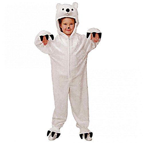 Faschingskostüm Kinder Overall Eisbär (Eisbär Kostüm)