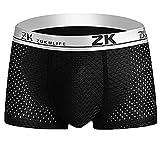 L-4XL Ice Silk Boxershorts Herren Unterhose Männer Underwear Unterwäsche Retroshorts Briefs Underpants Unterhosen Panties Schlüpfer CICIYONER