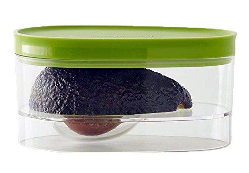 2 recipientes de almacenamiento de aguacate creativos verdes para aguacate crujiente, tapa de aguacate, contenedores reutilizables para frutas, verduras, alimentos y conservas