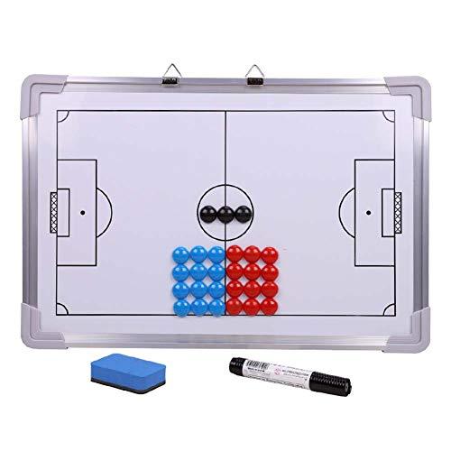 hehsd0 Lavagna Magnetica Professionale per Allenatore di Calcio con 27 Calamite per Tattica da Calcio