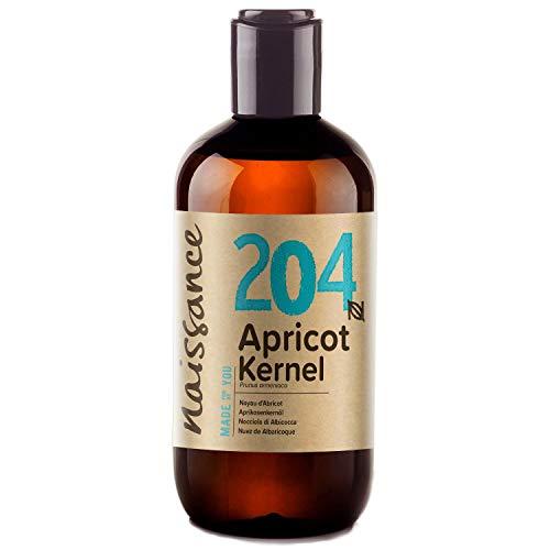 Naissance Olio di Nocciolo di Albicocca - Olio Vegetale Puro al 100%, Naturale, Vegan, Cruelty Free - 250ml