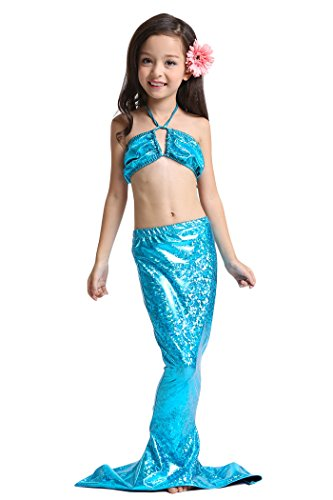 yming-fille-plage-de-vacances-sirene-maillot-de-bain-maillot-de-bain-performance-robe-bleu
