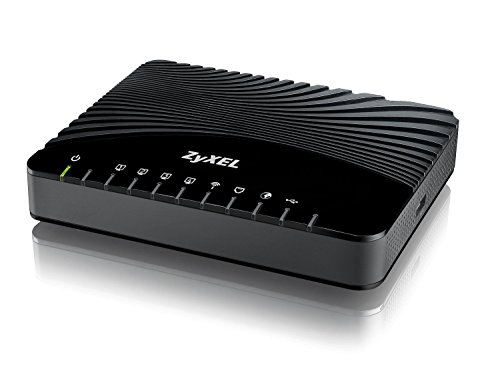 Zyxel VDSL2 Wireless Modem mit 4FE LAN Ports, 1 USB Port WiFi 802.11n 2x2, IPv6, Router mode, non DE Version [VMG1312-B10A] -
