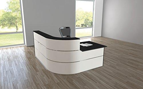 empfangstheke buero Design Empfangstheke Rezeptionstheke Cento 1,9m Weiß Anthrazit