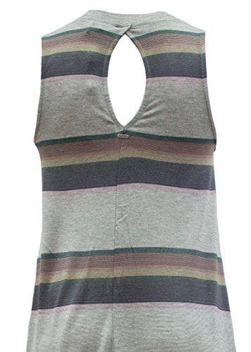 Khujo Damen Kleid Niama 1503DR171 Striped Green