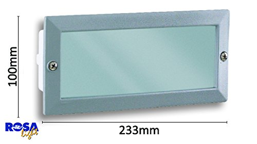 Plafoniera Per Esterno In Plastica : Plafoniera da incasso per camminamenti ip con cassetta in