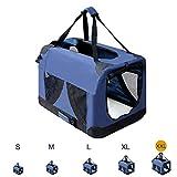 Zedelmaier Faltbare Hundebox Transportbox Hundekäfig mit verschiedenen Größen (XXL - 91 x 63,5 x 63,5 cm)