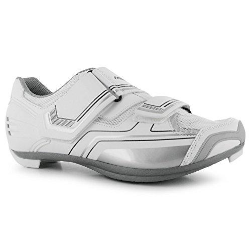 Muddyfox RBS100 Damen Radschuhe Fahrradschuhe Radsportschuhe Sport Schuhe White/Silver 5.5 (38.5) yleH4