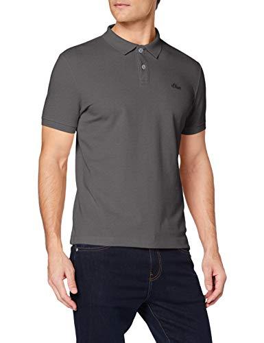 s.Oliver Herren 03.899.35.4586 Poloshirt, Grau (Smoke Grey 9490), X-Large