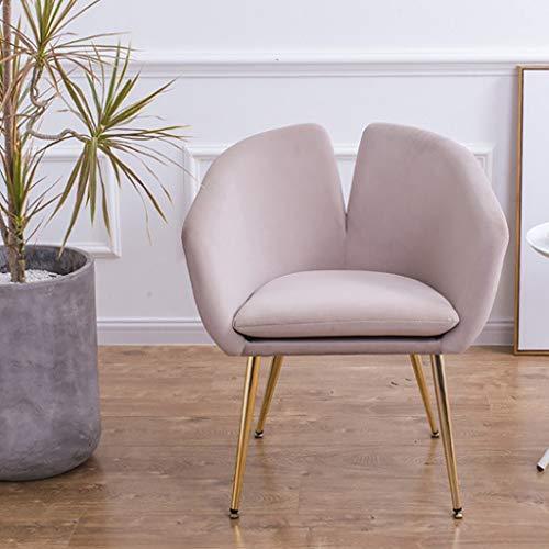 JIAJU Womens Accent Chair Mid-Century Accent Sessel Vintage Club Seat für Wohnzimmer Modernes zeitgenössisches gepolstertes einzelnes Sofa mit Metallrahmen-Möbeln (Farbe : Beige) -