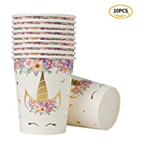 Meilo Unicorn Party Set - Disposable Gold Print Party Deco for 10person in Birthday Party / Wedding / Ceremony / Christmas