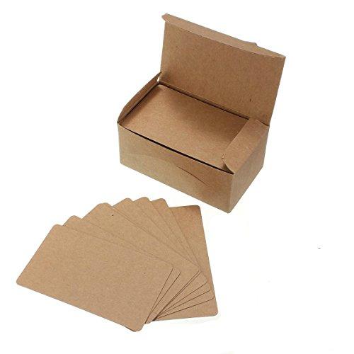 Yalulu 200 Stück Naturkarton Blanko Kraftpapier Kraftkarton Tischkarten Postkarten für Hochzeit Gruß- und Glückwunschkarten, Einladungskarten, Geschenke (Braun)