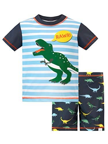 Harry Bear Bañador de Dos Piezas para niño Dinosaurio Azul 5-6 Años
