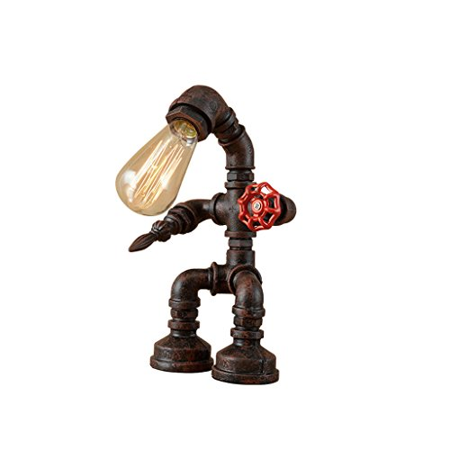 Vintage Industrie E27 Tischlampe Rustic Kupfer Wasser Rohr Nachttisch Schreibtisch - Industrie-schreibtisch-lampe