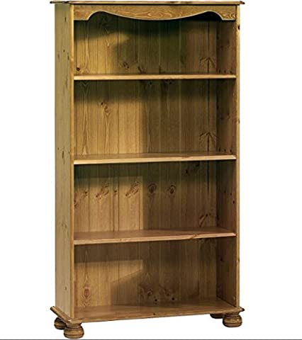 Steens Home Office Pine Bookcase with 3 Shelves - Perfect Bookcases For Any Hallway, Living Rooms, Dining Room, Conservatory and