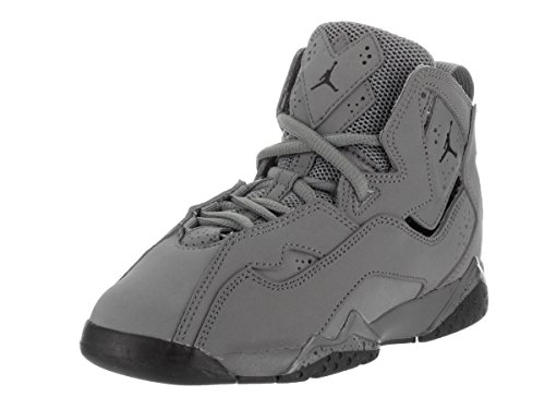 watch d96f4 e7fc2 Jordan Nike Kids True Flight BP Cool Grey Black Basketball Shoe 11 Kids US
